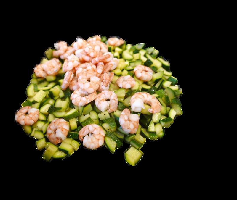 Gamberi e zucchine