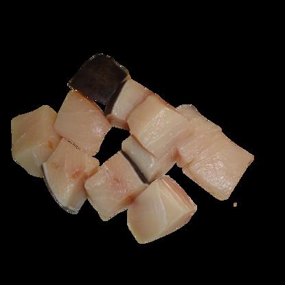 Cubetti di pesce spada congelato