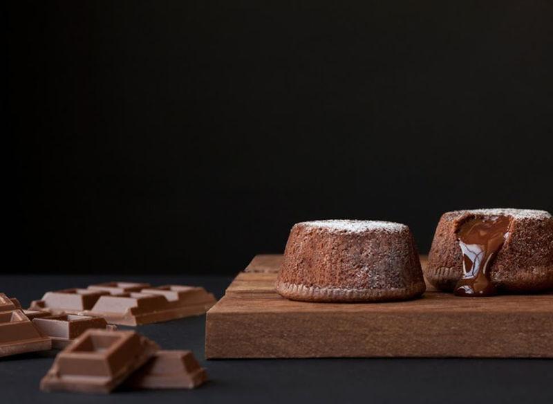 Dolci souffle al cioccolato