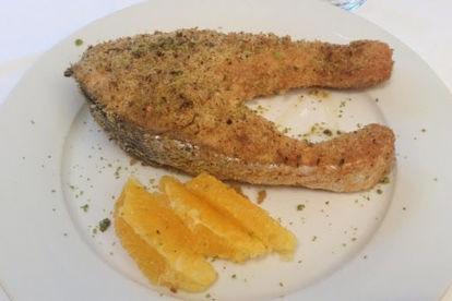 Salmone gratin al pistacchio