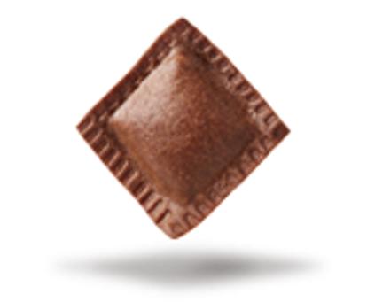 Quadrelli di cacao con scorza d'arancia
