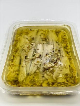 Alici marinate con pistacchio